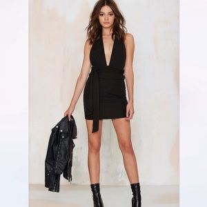 Nastygal That's a Wrap Halter Dress XS